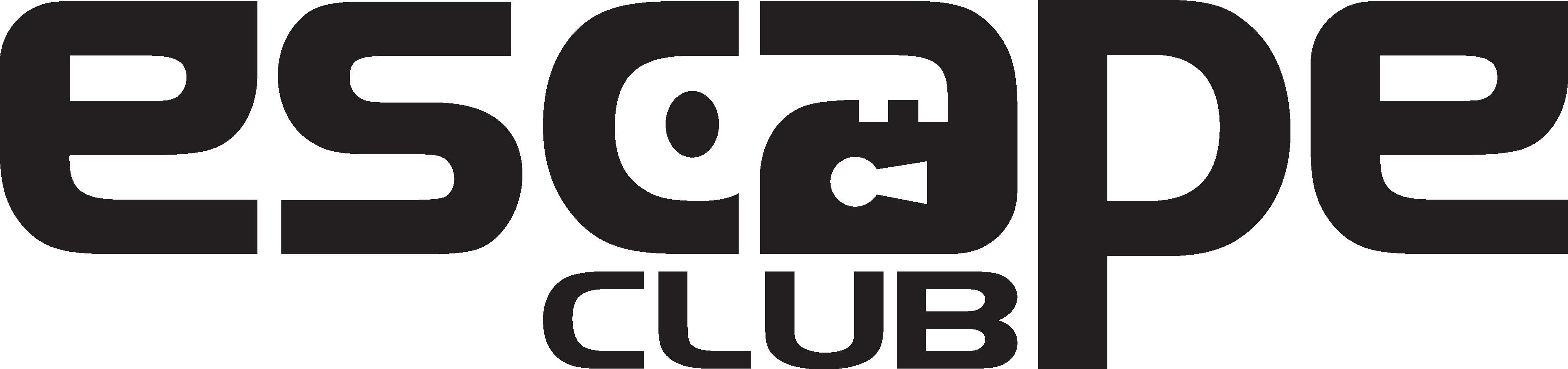 Escape Club Logo black and clear